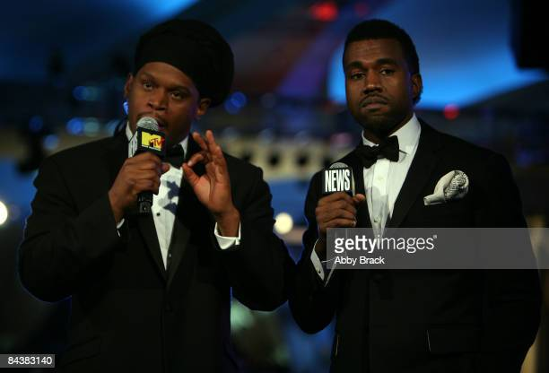Sway interviews rapper Kanye West from the MTV ServiceNation Live From The Youth Inaugural Ball at the Hilton Washington on January 20 2009 in...
