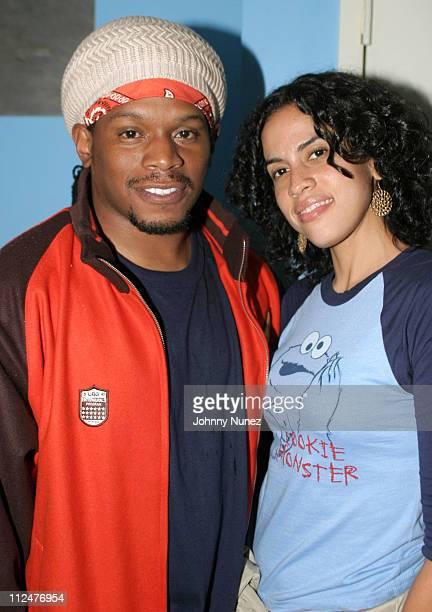 Sway of MTV and Mimi Valdes of Vibe Magazine during Raphael Saadiq Tony Toni Tone and Joi Performances At SOB at SOB's in New York City New York...