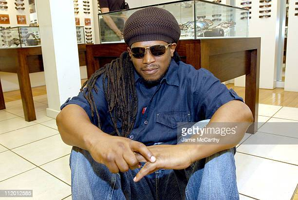 Sway wearing Diesel Cobretti Sunglasses during MTV Personalities Visit The Solstice Sunglass Boutique at The Solstice Sunglass Boutique in New York...