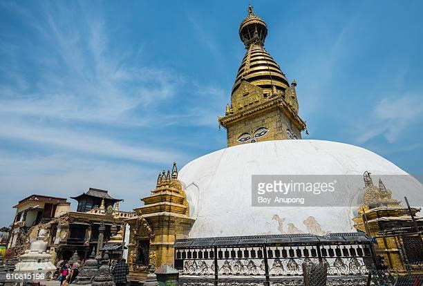 Swayambhunath stupa in Kathmandu, Nepal.