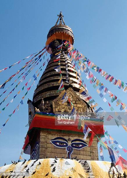 swayambunath stupa, nepal - kathmandu stock pictures, royalty-free photos & images
