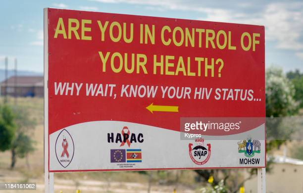 swaziland aids hiv warning sign - kaposis sarcoma stock pictures, royalty-free photos & images