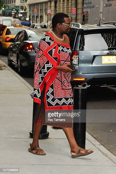 Swaziland King Mswati III leaves his Midtown Manhattan hotel on September 26 2011 in New York City