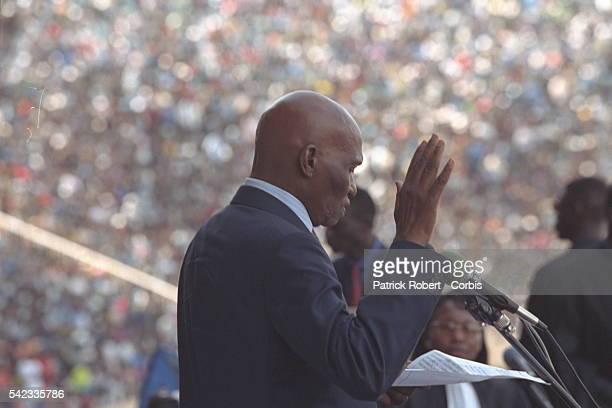Swearing in ceremony at the Dakar stadium