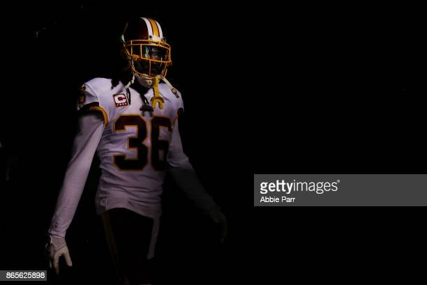J Swearinger of the Washington Redskins enters the field to take on the Philadelphia Eagles during their game at Lincoln Financial Field on October...