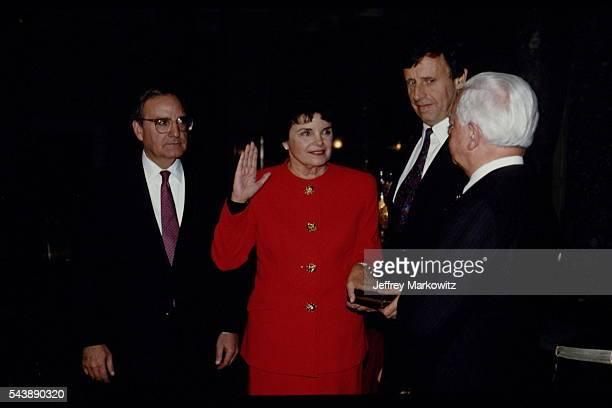 Swearingin of Diane Feinstein at the senate