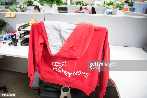 A sweater left on the back of an office chair seen at JDcom's headquarters in Beijing China on Monday Nov 30 2015 JDcom is China's second largest...