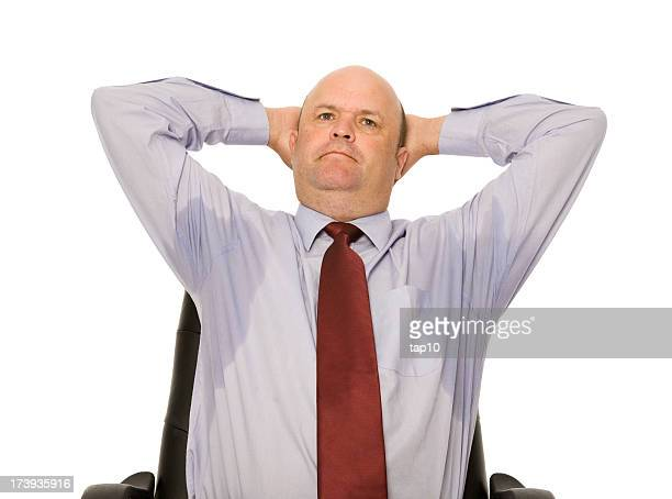 sweating business man - male armpits stock pictures, royalty-free photos & images