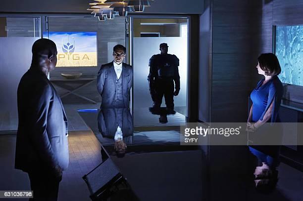 "Sweating the Assets"" Episode 106 -- Pictured: Dennis Haysbert as Julian, Sean Teale as Ben Larson, Julia Ormond as Elizabeth Krauss --"
