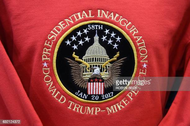 TOPSHOT A sweatshirt commemoration the inauguration of US Presidentelect Donald Trump is for sale in a gift shop in Washington DC on January 19 2017...