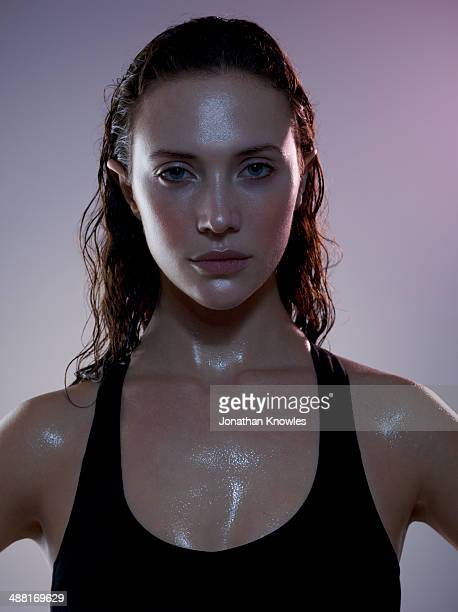 sweaty female post workout - extra long stock pictures, royalty-free photos & images