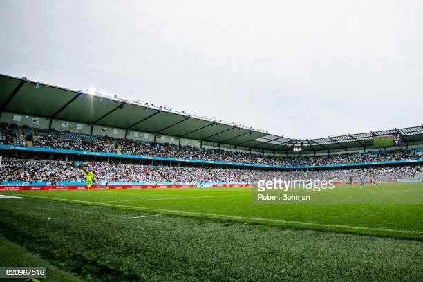 Swedbank arena and crowd during the Allsvenskan match between Malmo FF and Jonkopings Sodra IF at Swedbank Stadion on July 22 2017 in Malmo Sweden