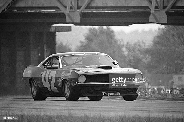 Swede Savage's Dodge Charger in the Trans Am race held June 6 1970 on the MidOhio track near Lexington Ohio