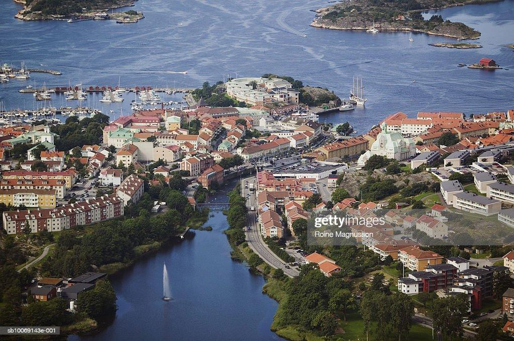 Sweden, Bohuslan, Stromstad, aerial view : Stockfoto