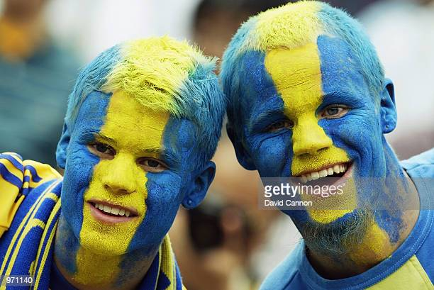 Sweden fans during the Argentina v Sweden Group F World Cup Group Stage match played at the Miyagi Stadium Miyagi Japan on June 12 2002 The match...