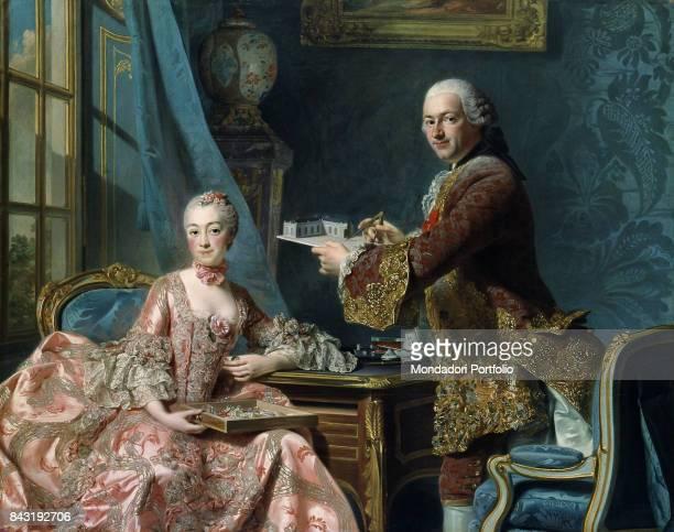 Sweden Gothenburg Art Museum of Gothenburg Whole artwork view Louis XV's mistress Jeanne Antoinette Poisson Marquise de Pompadour with her brother...