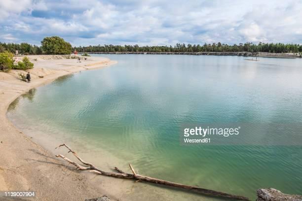 sweden, gotland county, blue lagoon, former limestone quarry - gotland bildbanksfoton och bilder