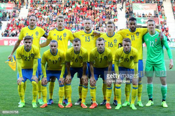 Sweden initial team during the match between Portugal v Sweden International Friendly at Estadio dos Barreiros on March 28 2017 in Funchal Madeira...