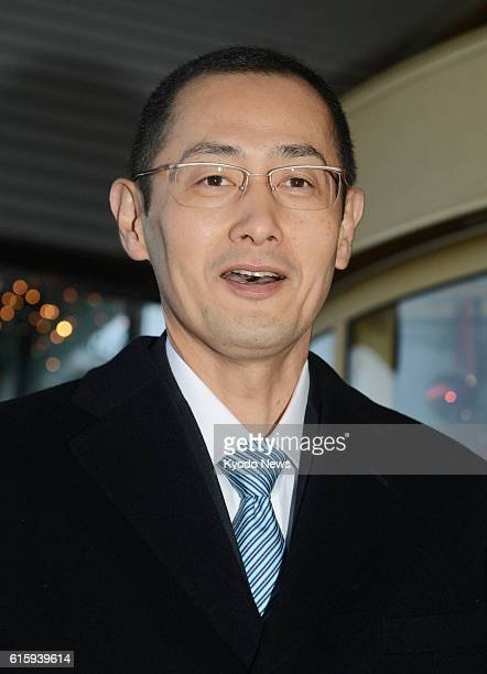 STOCKHOLM Sweden Japanese stem cell researcher Shinya Yamanaka a corecipient of the 2012 Nobel Prize in medicine meets the press in Stockholm Sweden...