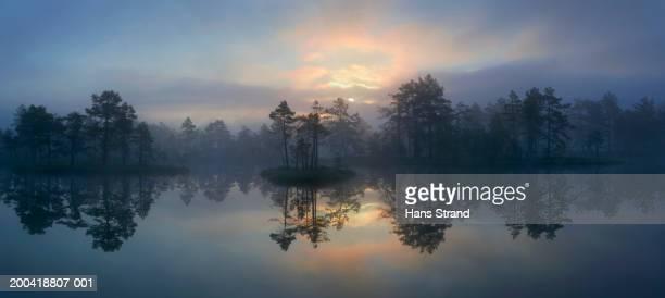 Sweden, Knuthojdsmossen, Vastmanland (province), wetland, sunrise