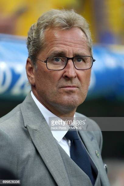 Sweden manager Erik Hamren before the game