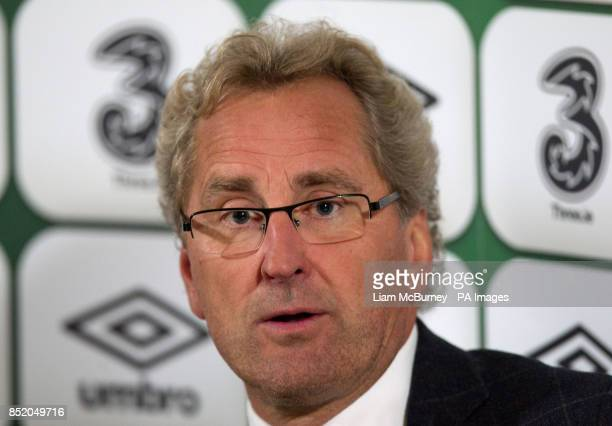 Sweden manager Erik Hamren during a press conference following the World Cup Qualifying Group C match at the Aviva Stadium Dublin Ireland