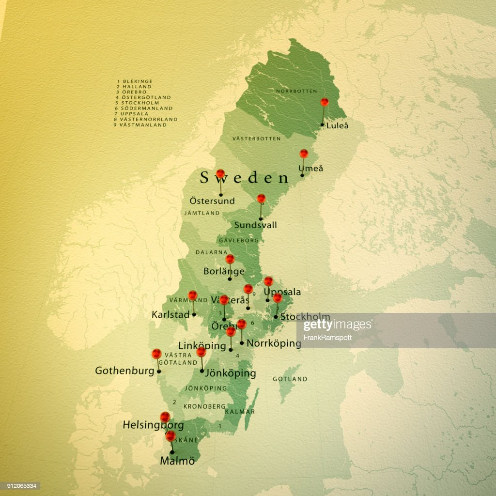Sweden map square cities straight pin vintage stock illustration sweden map square cities straight pin vintage stock illustration gumiabroncs Images