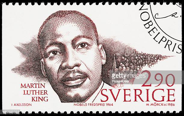 suecia martin luther king jr sello postal - black history fotografías e imágenes de stock