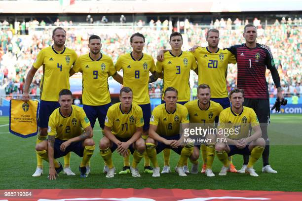 Sweden pose prior to the 2018 FIFA World Cup Russia group F match between Mexico and Sweden at Ekaterinburg Arena on June 27 2018 in Yekaterinburg...