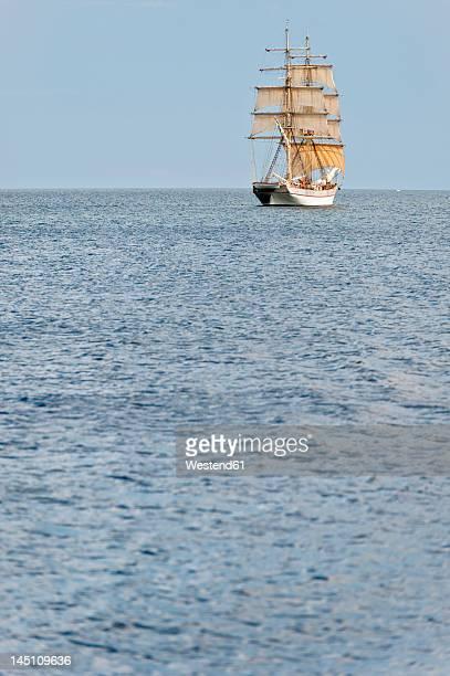 Sweden, Simrishamn, View of old sailing boat