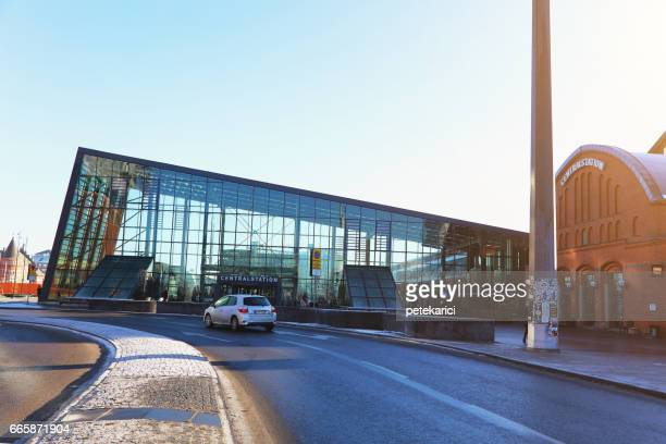 sweden, skane, malmo, view of central station - malmo stock pictures, royalty-free photos & images