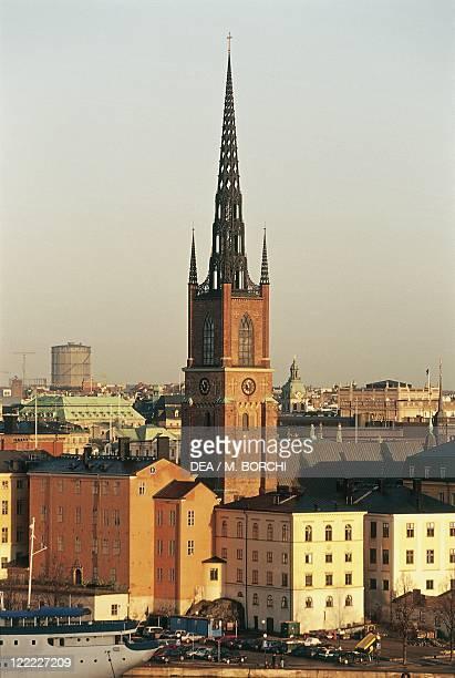 Sweden - Stockholm - Church of Riddarholmen - Bell tower .