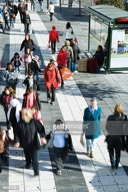 sweden, stockholm, crowded pedestrian street - moving past stock pictures, royalty-free photos & images