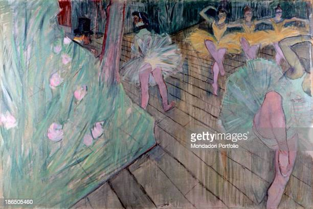 Sweden Stockholm Thielska Gallery Whole artwork view Scene of a ballet with some ballerina in a bluegreen tutu and others in a yellow one from the...