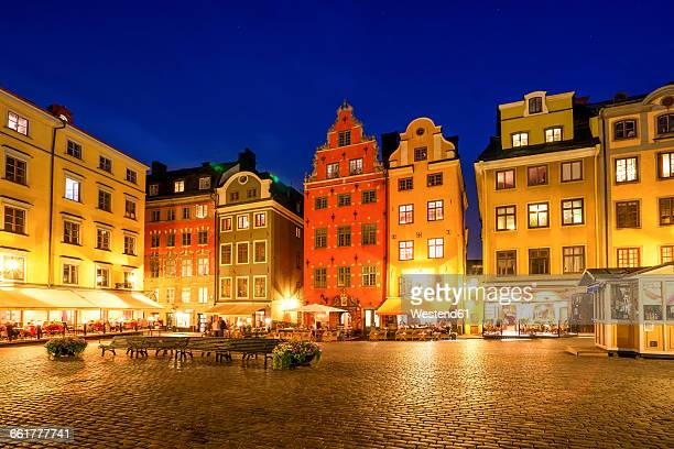Sweden, Stockholm, view to Gamla Stan in the evening