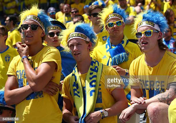 Sweden supporters during the UEFA EURO 2016 Group E match between Italy and Sweden at Stadium Municipal on June 17 2016 in Toulouse France