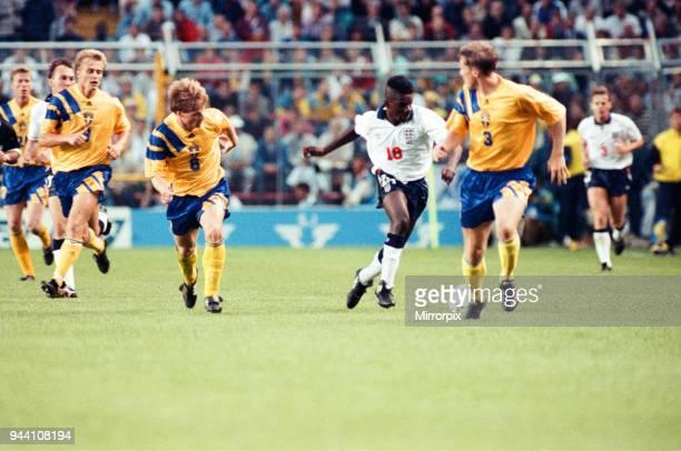 Sweden v England European Championship Match Group Stage Group 1 R undastadion Solna Sweden 17th June 1992 Tony Daley Final score Sweden 21 England