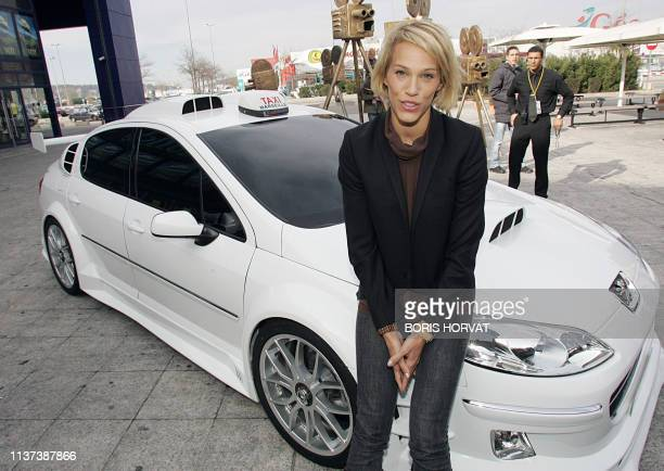 Sweden's actress Emma Sjoberg poses 09 February 2007 in the southern city of Marseille before the premiere of Taxi 4 a film directed by French Gerard...
