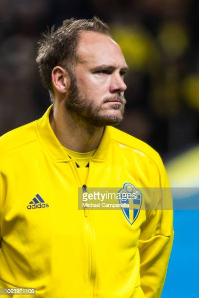 Sweden's Andreas Granqvist during the UEFA Nations League B group two match between Sweden and Russia at Friends Arena on November 20 2018 in Solna...