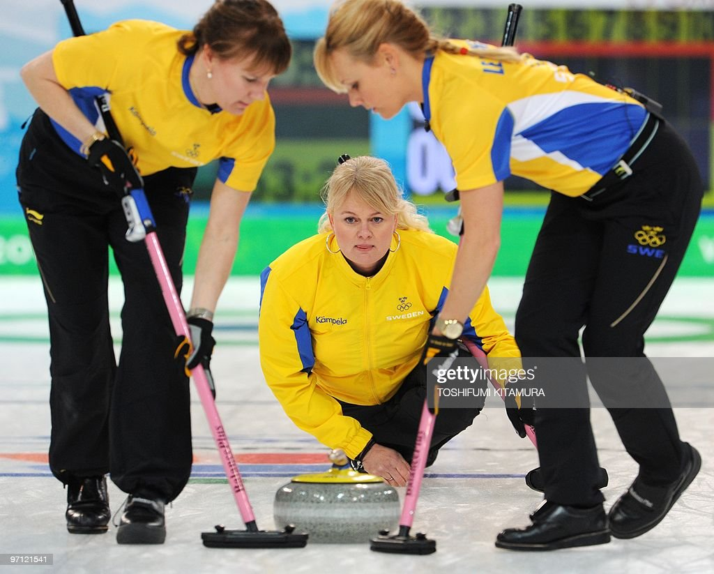 Anette Norberg sweden's anette norberg checks the direction while her