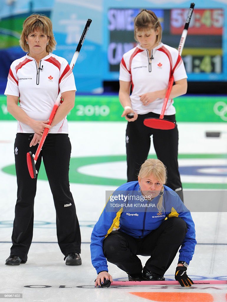 Anette Norberg sweden's anette norberg watches the stone as canada's susan