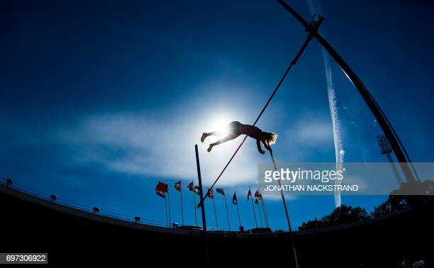 Sweden's Angelica Bengtsson clears the bar at the Women's Pole Vault event during the IAAF Diamond League athletics competition in Stockholm Sweden...