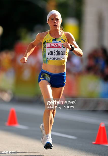 Sweden's Anna Von Schneck in action during the women's marathon final