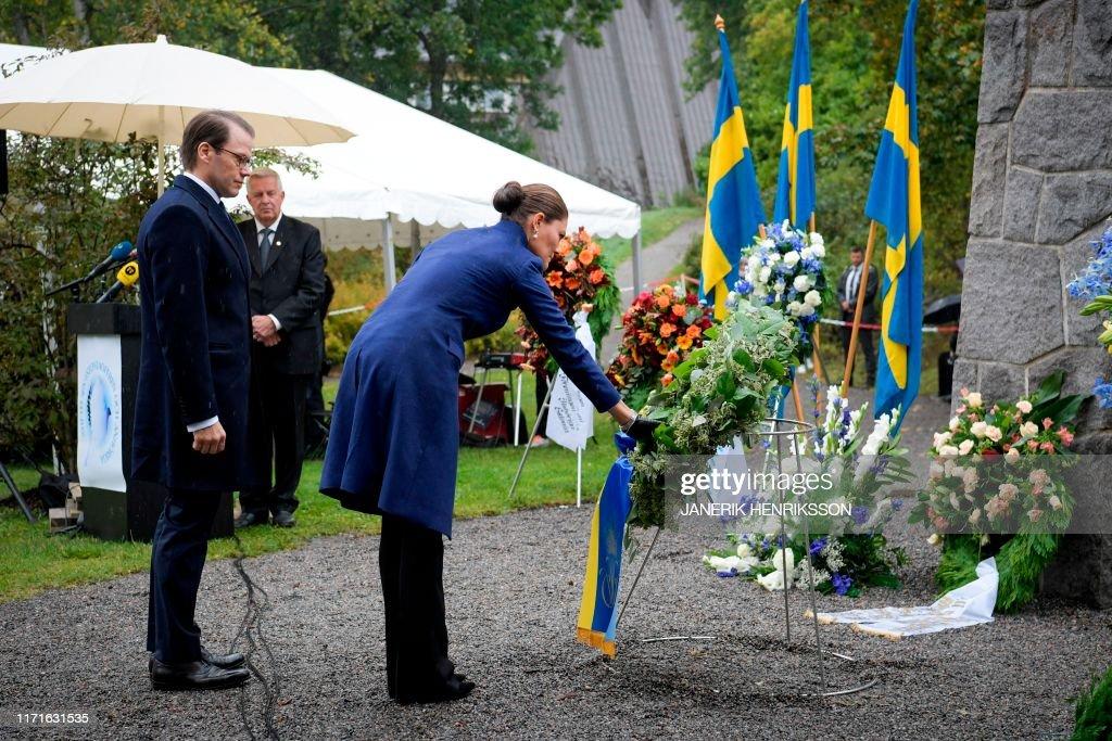 SWEDEN-ESTONIA-MEMORIAL-SERVICE-ACCIDENT-FERRY : News Photo