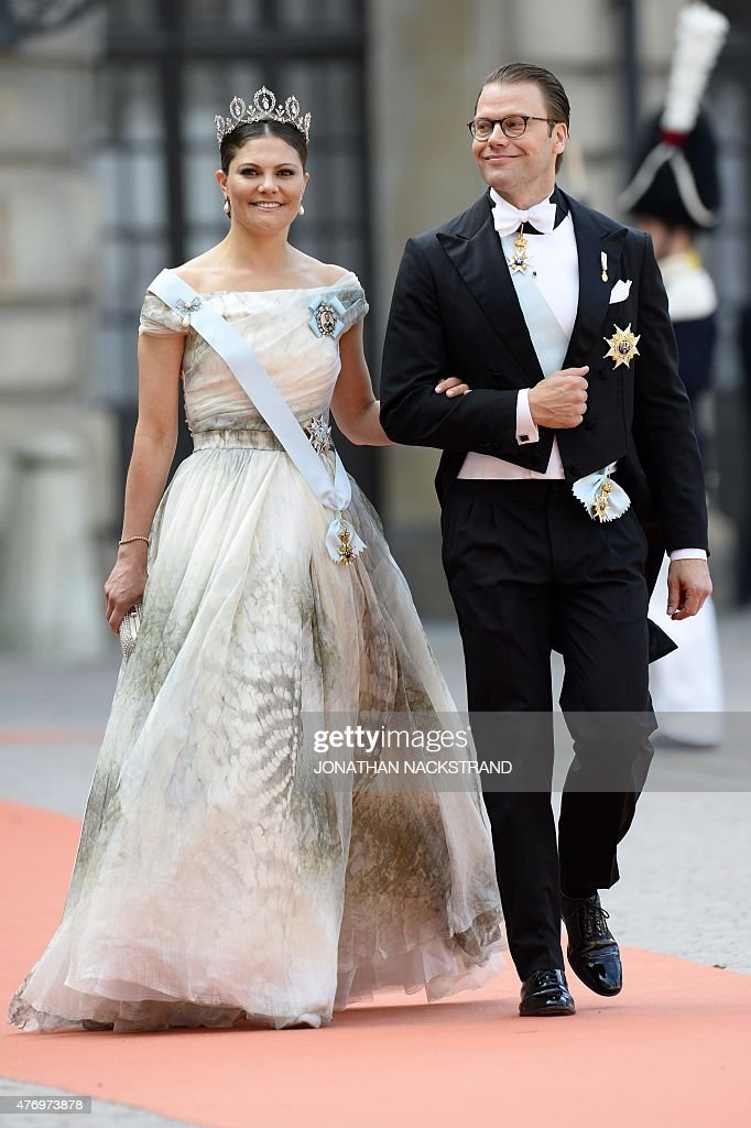 Sweden\'s Crown Princess Victoria (L) and Sweden\'s Prince Daniel ...