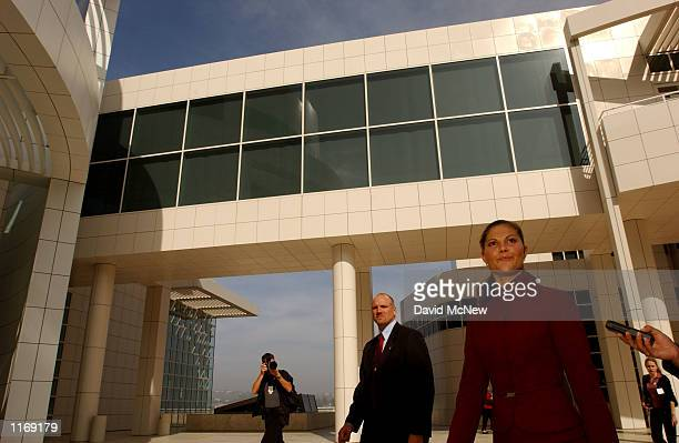 Sweden's Crown Princess Victoria visits the Getty Center art museums October 24 2001 in Los Angeles CA Victoria who would be Sweden's first reigning...