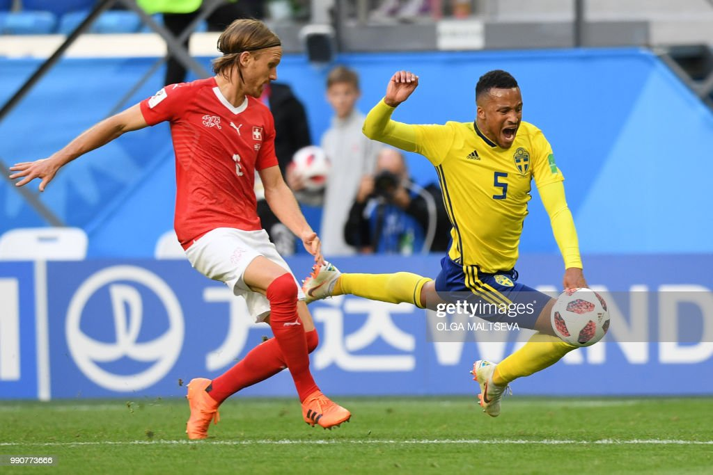 FBL-WC-2018-MATCH55-SWE-SUI : News Photo