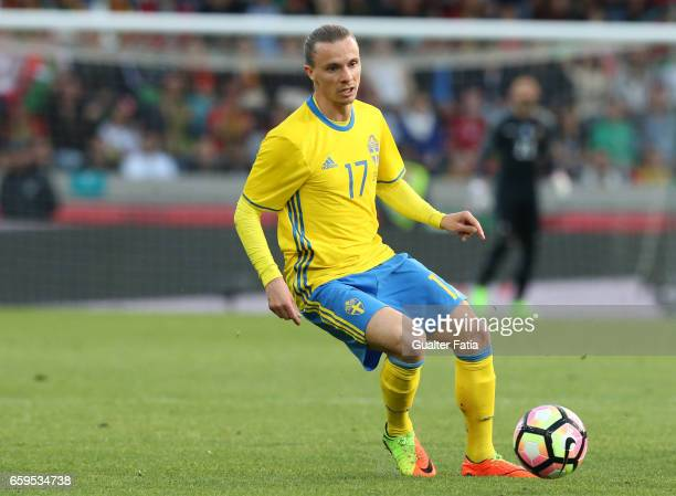 Sweden's defender Niklas Hult in action during the International Friendly match between Portugal and Sweden at Estadio dos Barreiros on March 28 2017...