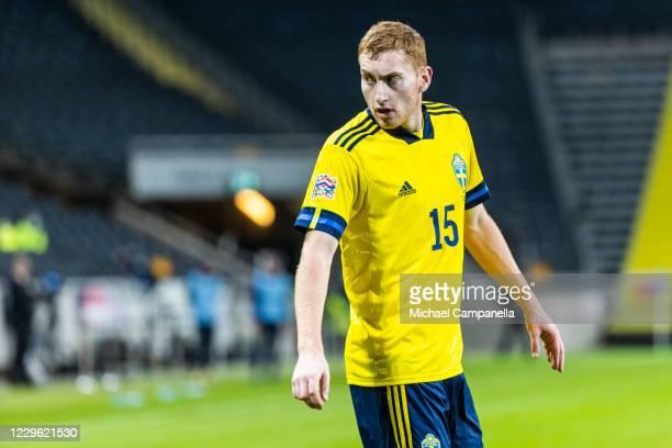 Swedens Dejan Kulusevski during the UEFA Nations League group stage match between Sweden and Croatia at Friends Arena on November 14, 2020 in...