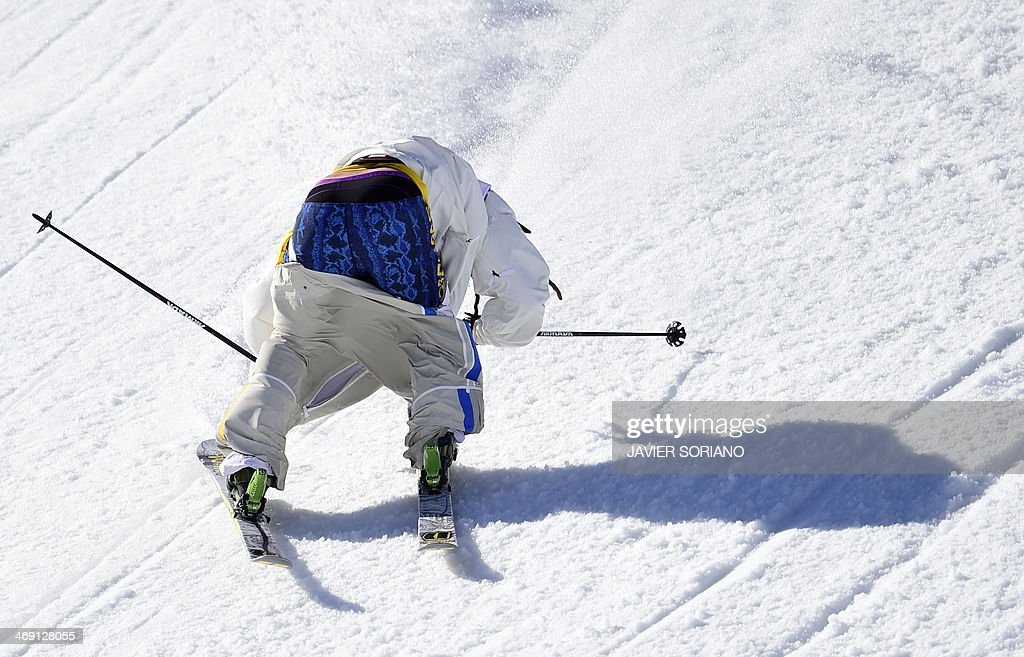 Sweden's Henrik Harlaut competes in the Men's Freestyle Skiing Slopestyle finals at the Rosa Khutor Extreme Park during the Sochi Winter Olympics on February 13, 2014.